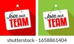 join our team on door sign | Shutterstock .eps vector #1658861404