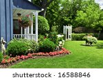 landscaped front yard of a... | Shutterstock . vector #16588846