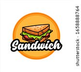 retro sandwich logo vector... | Shutterstock .eps vector #1658888764