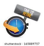 time to retire illustration... | Shutterstock . vector #165889757