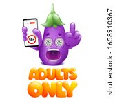 adults only cocept card.... | Shutterstock .eps vector #1658910367