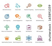 seo   internet marketing icons  ... | Shutterstock .eps vector #165891059