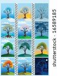 all seasons  calendar cover   Shutterstock . vector #16589185