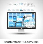 ui flat design elements for ui...