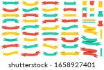 set of banners of colored... | Shutterstock . vector #1658927401