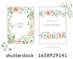 wedding cards design. blush... | Shutterstock .eps vector #1658929141