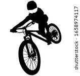 Downhill Mountainbiker At The...