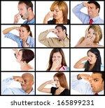 closeup portrait multicultural... | Shutterstock . vector #165899231