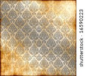 Seamless Faded Damask Background
