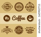 coffee labels and badges. | Shutterstock . vector #165902711