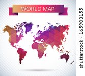 bright vector map of the globe. ...   Shutterstock .eps vector #165903155