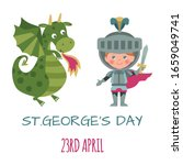 St.george's Day Card With...