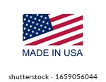 made in usa vector logo and... | Shutterstock .eps vector #1659056044