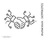 digital handshake icon  global...   Shutterstock .eps vector #1659061921