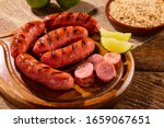 Grilled Sausage. Grilled...