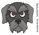 cute cartoon schnauzer puppy...   Shutterstock .eps vector #1659079081