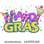 mardi gras type treatment with... | Shutterstock .eps vector #165909185