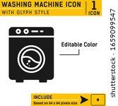 washing machine icon vector...