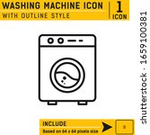 washing machine icon vector...