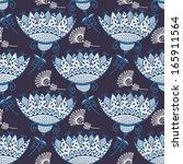 vintage floral seamless pattern.... | Shutterstock .eps vector #165911564