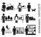 animals jobs occupations... | Shutterstock . vector #165912275