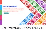 Pakistani Rupee Banknotes money vector template, good for landing page, infographic, web, social media post or other digital and print usage. Pakistan business, payment and finance element.