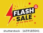 flash sale banner template... | Shutterstock .eps vector #1659185041