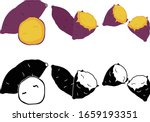 the cute icons of sweet potato | Shutterstock .eps vector #1659193351