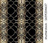 gold greek style border vector... | Shutterstock .eps vector #1659204637
