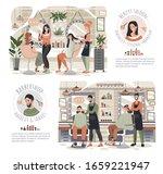 woman in beauty salon  man in...   Shutterstock .eps vector #1659221947