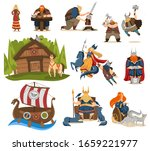 viking cartoon characters and... | Shutterstock .eps vector #1659221977