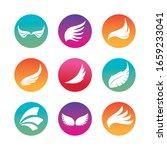 wings silhouette block style...   Shutterstock .eps vector #1659233041