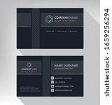business card in modern luxury... | Shutterstock .eps vector #1659256294
