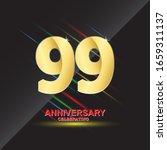99 anniversary logo vector... | Shutterstock .eps vector #1659311137