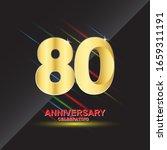 80 anniversary logo vector... | Shutterstock .eps vector #1659311191