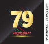 79 anniversary logo vector... | Shutterstock .eps vector #1659311194