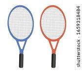 tennis racket with yellow ball... | Shutterstock .eps vector #1659318484