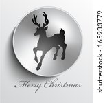 christmas metal button