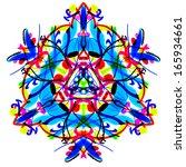 painted mandala. the bright... | Shutterstock . vector #165934661