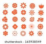 flower icon set 1. | Shutterstock .eps vector #165938549