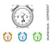 set of common alarm clock.   Shutterstock .eps vector #165940547