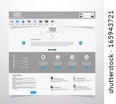 clean modern vector website... | Shutterstock .eps vector #165943721