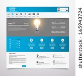 clean modern vector website... | Shutterstock .eps vector #165943724