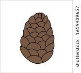 closed fir cone. vector...   Shutterstock .eps vector #1659439657