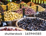 Assortment Of Olives On Market...