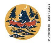 canoe  bear with paddle ...   Shutterstock .eps vector #1659461611