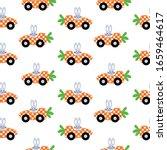 bunny carrot car easter... | Shutterstock .eps vector #1659464617