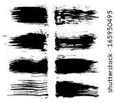 vector set of grunge brush... | Shutterstock .eps vector #165950495