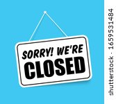 closed in signboard with a rope ... | Shutterstock .eps vector #1659531484