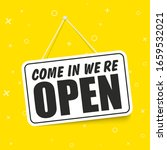 come in we're open in signboard ... | Shutterstock .eps vector #1659532021